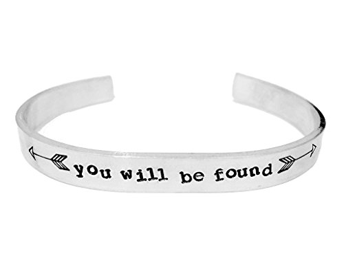 Theatre Nerds 'You Will Be Found' Dear Evan Hansen Broadway musical inspired aluminum cuff bracelet by Theatre Nerds (Image #1)