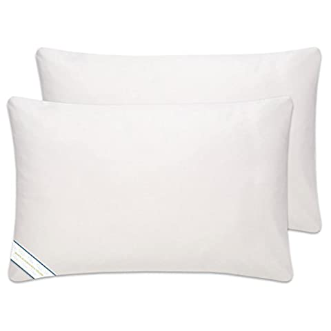 THANYA Pillow Premium Polyester warm and fluffy these luxurious and soft, King White (Cvs Rhymes)
