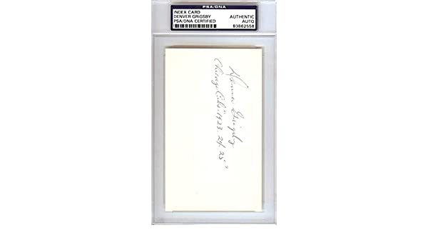 Denver Grigsby Autographed 3x5 Index Card Chicago Cubs #83862558 - PSA/DNA Certified - MLB Cut Signatures at Amazons Sports Collectibles Store