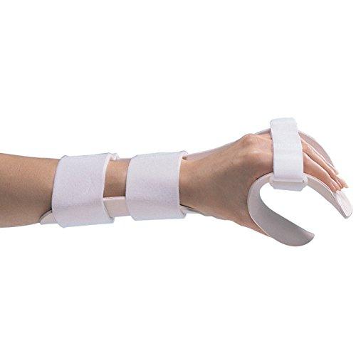 Rolyan Splinting Material Sheet, Functional-Position Hand Splint, Left, Medium, Deluxe Model, Includes Self-Adhesives Strap Kit, Single Sheet by Cedarburg (Image #1)