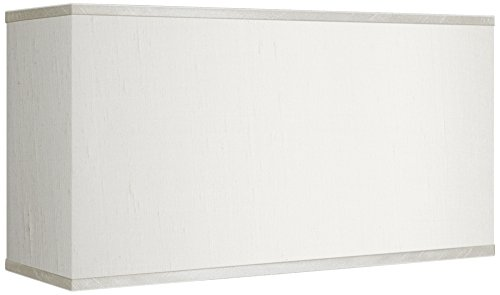 Cream Faux Silk Rectangular Shade 8/17x8/17x10 (Cream Rectangular Shade)