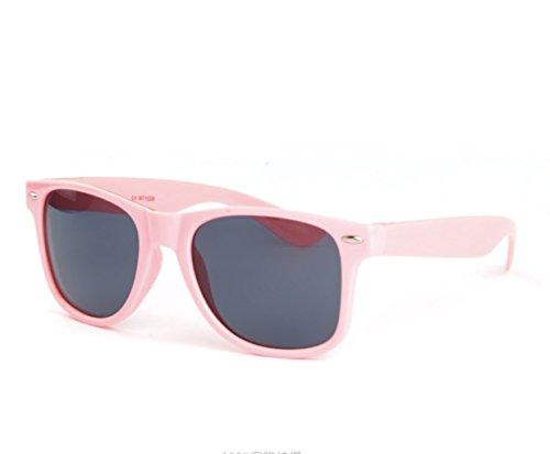 Wayfarer Outdoor Sunglasses Vintage Mens Womens Non Polarized Retro Sunglasses by BP HOUSE (Light Pink) (Plastic Wayfarer Sunglasses)