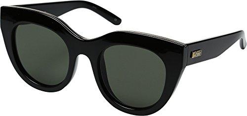 Le Specs Women's Air Heart Sunglasses, Black Gold/Khaki Mono, One ()