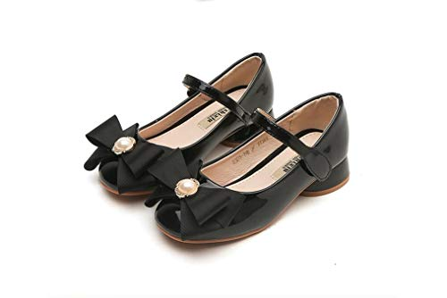 Role Play Collection Step in Style! Dress-Up Shoes Princess Shoes Single Shoes(Black 34/2.5 M US Boys Girls)