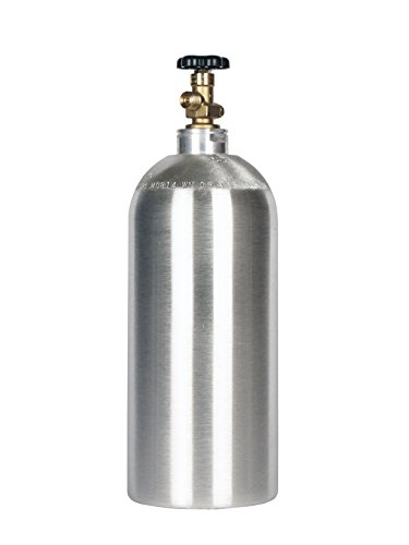 - New 10 lb Aluminum CO2 Cylinder with CGA320 Valve and Free Leak Stopper