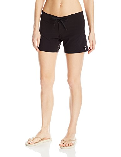 Volcom Women's Simply Solid 5 inch Boardshort, Black, 11