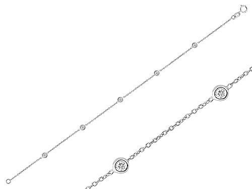 Bracelet Chaîne Or et Diamant-Femme- or Blanc 215B0005