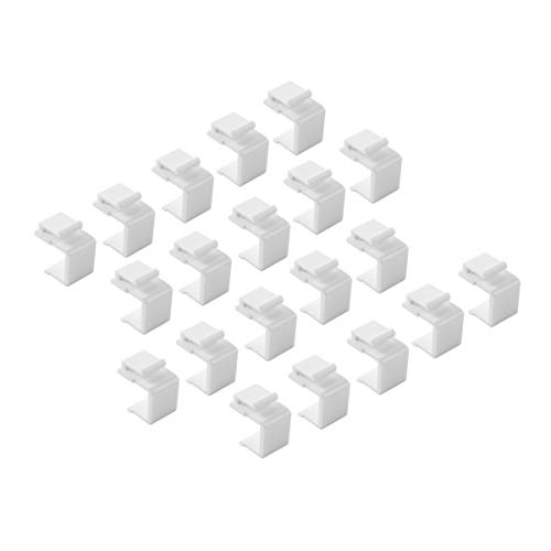 - TENINYU (20-Pack) Blank Keystone Jack Inserts for Wall Plate, White