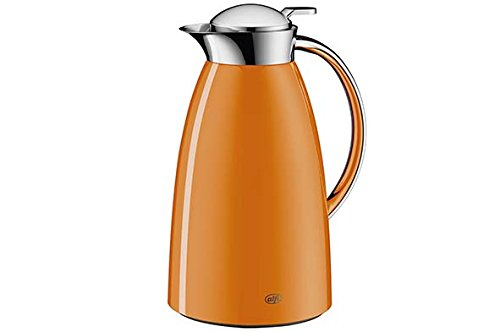 Alfi Gusto Glass Vacuum Lacquered Metal Thermal Carafe for Hot and Cold Beverages, 1.0 L, MANGO ORANGE by Alfi
