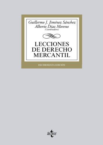 Descargar Libro Lecciones De Derecho Mercantil: Décimosexta Edición Guillermo J. Jiménez Sánchez
