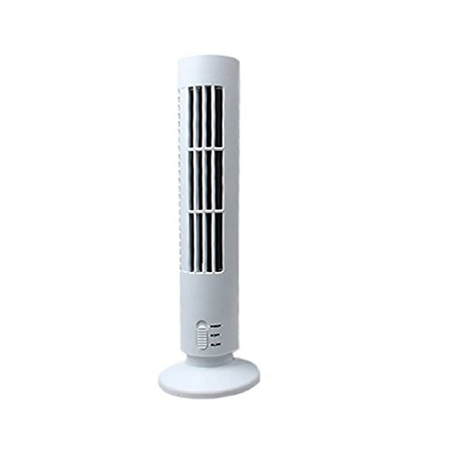 USB Cooling Bladeless Tower Fan (White) - 8