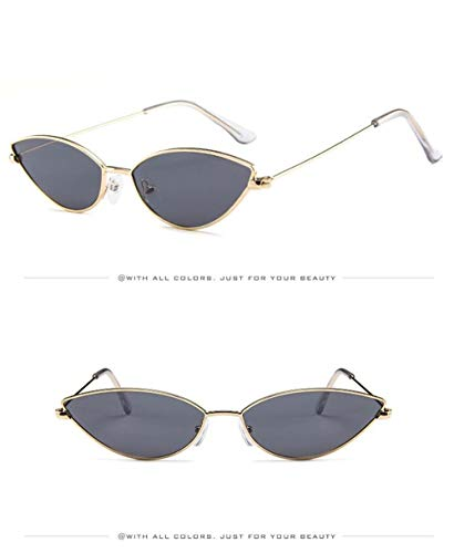 Gafas para de Mujer Polarizadas Sol Gafas Súper UV400 Espejo Sol Vintage Hombre de Gris Estuche A de Eye Lente Retro Sol Fliegend Gafas Ligero Unisex Gafas Cat xq6fqI