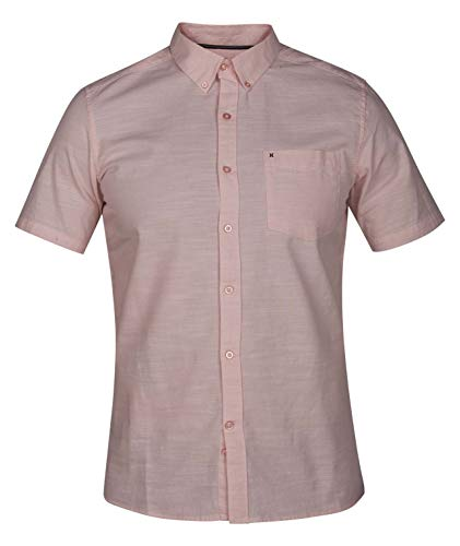 Hurley One and Only SS Button Down Shirt - Storm Pink - XXL