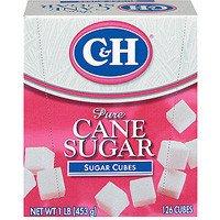 C&H, Sugar Cubes, 126 Count, 16oz Box (Pack of 4)