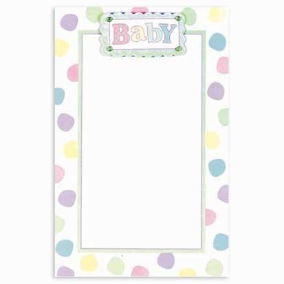 Pastel Baby Dot Imprintable Invitations 12ct ()