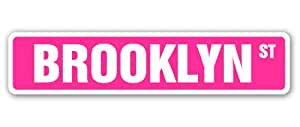 Amazon Com Brooklyn Street Sign Pink Name Kids Childrens