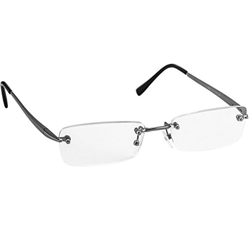 Reading Glasses _ Single Silver Always Have a stylish Look, Crystal Clear Vision and Sure-Flex Comfort Spring Arms & Dura-Tight Screws _ 100% Guarantee - Single Prescription What Vision Is