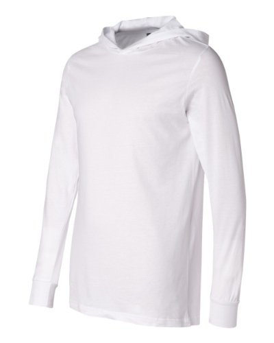 - Canvas for Men's Driftwood Long-Sleeve Jersey Hoodie, WHITE, X-Large