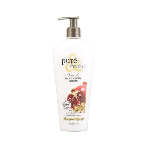 Pure and Basic Natural Bath and Body Lotion Pomegranate Ginger, 12 Fluid Ounce - Nature Ginger Body Lotion