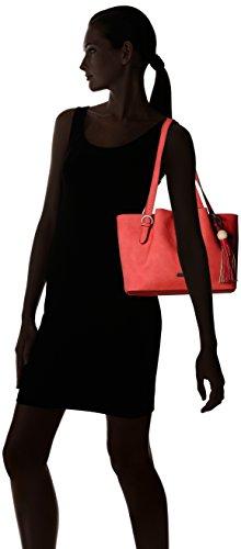 Tamaris Natalie Shoulder Bag - Shoppers y bolsos de hombro Mujer Rojo (Coral Comb.)
