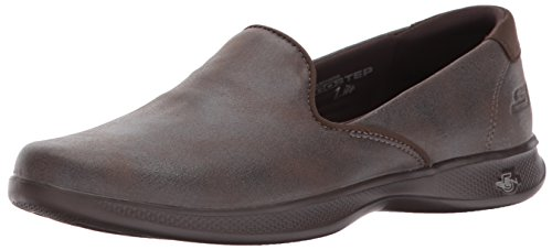 Max Leather (Skechers Performance Women's Go Step Lite-Determined Walking Shoe, Chocolate, 10 M US)