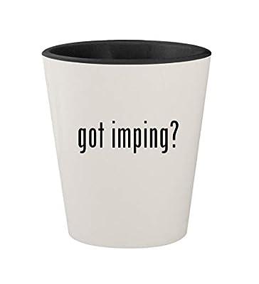 got imping? - Ceramic White Outer & Black Inner 1.5oz Shot Glass