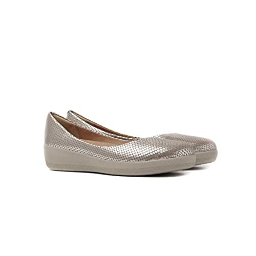 940d4c993e4351 70%OFF FitFlop Women s Snake-Embossed Leather Superballerina Flats ...