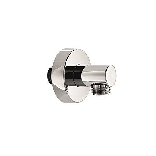 Blu Bathworks TC802 Round Wall Union Water Outlet, Polished Chrome Finish ()