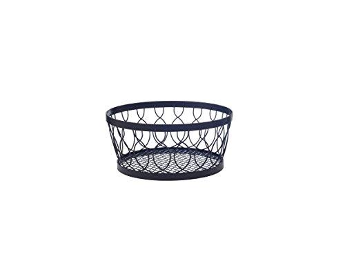 Pfaltzgraff Rustic Farmstand Wire Centerpiece Basket, 11-Inch, Antique Black