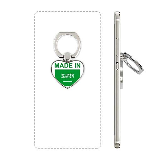 Made in Saudi Arabia Country Love Heart Cell Phone Ring Stand Holder Bracket Universal Support Gift (Best Mobile In Saudi Arabia)