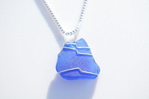 Cobalt Blue Sea Glass Necklace (Genuine Beach Glass Necklace)