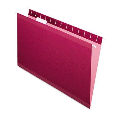 Pendaflex Reinforced Hanging Folders, Legal, Burgundy, 25...
