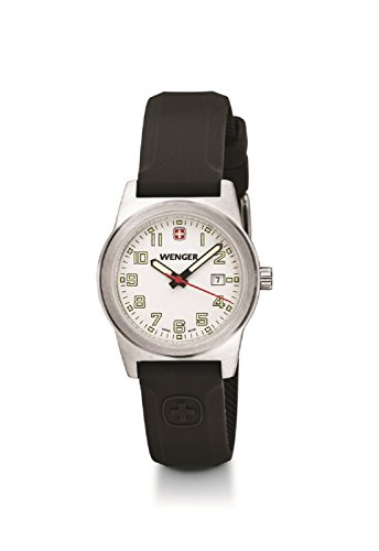 Wenger Women's Swiss Field Date Watch Silicone Sports Strap 32mm White Dial 01.0411.108