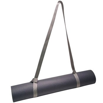 FMS Yoga Mat Sling Harness Carrying and Stretch Strap (Silver)