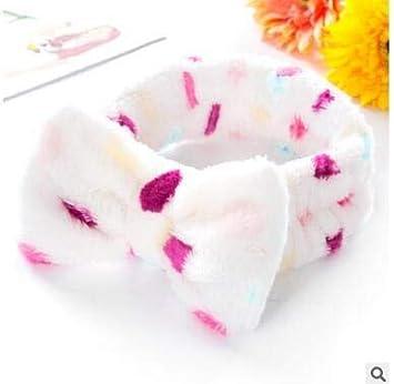 fce40b27108 Women s Headwear Hair Bow Dot Striped Coat Soft Shower Bath Spa Hair Band  Hair Makeup Cute