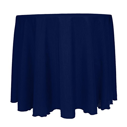 Ultimate Textile (10 Pack) Reversible Shantung Satin - Majestic 90-Inch Round Tablecloth - for Weddings, Home Parties and Special Event use, Navy Blue by Ultimate Textile