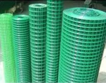 G4RCE/® 1 x 1 Green PVC Coated Welded Mesh Wire 30m or 45m roll in 2 widths Chicken Rabbit Animal Fence Steel Metal Garden Netting Fencing 0.9M X 30M