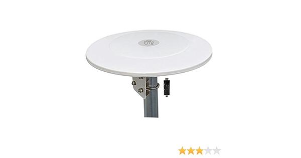 Metronic 427016 Antena VHF/UHF omnidireccional, Blanco