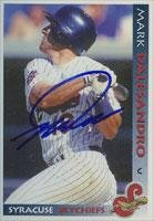 Mark Dalesandro Syracuse Skychiefs - Blue Jays Affiliate 1998 Grandstand Autographed Card - Minor League Card. This item comes with a certificate of authenticity from Autograph-Sports. Autographed