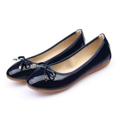 FLYRCX Zapatos Planos de Las Mujeres Zapatos Planos Plegables Zapatos de Viaje portátiles Zapatos de Ballet Zapatos de Maternidad Antideslizantes Suaves y cómodos E