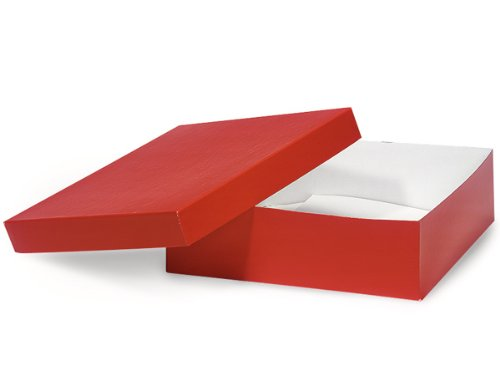 Red Hi-wall 10x10x3'' 100% Recycled Giftware Box Base (Unit Pack - 50) by Better crafts