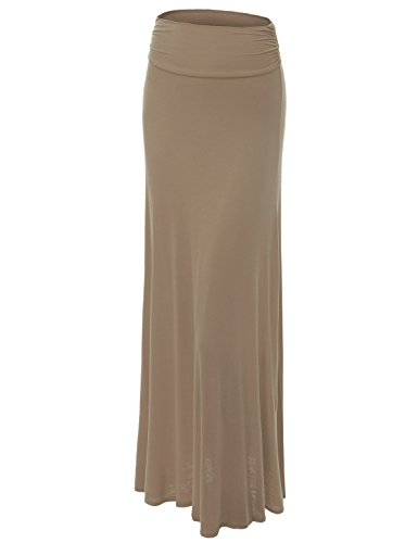 (Made By Johnny WB296 Womens Lightweight Floor Length Maxi Skirt XL)