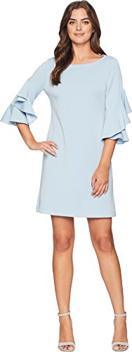 Taylor Dresses Women's Ruffle Sleeve a-Line Dress, Powder Blue, Size 4 (Dress Powder)