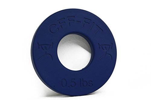 CFF Competition Rubber Fractional Weight Plates .25 lb., .5 lb., 1 lb., & 1.25 lb. Pairs 6 Lb Set
