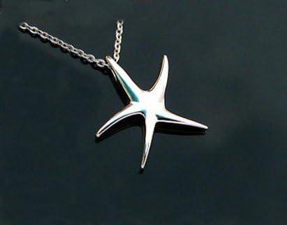 nice Détail SUPERBE Sterling Filigrane étoile de mer pendentif avec chaîne par SOM/'s