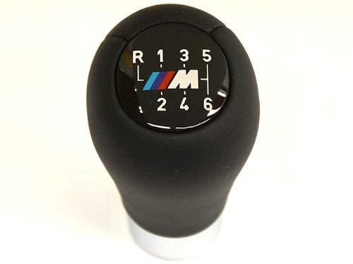 BMW (2001+) Shift Knob 6-speed ///M sport logo GENUINE Leather weighted