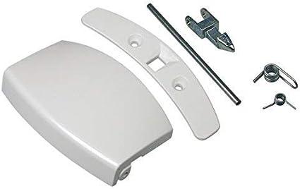 Original Puerta Tirador Puerta Ojo de Buey Juego completo con cierre nariz Blanco Lavadora ELECTROLUX AEG 405508700