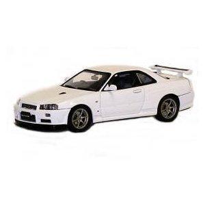 1999 Nissan Skyline Gtr r34 V Spec II Diecast Carモデル1 / 43ホワイトDie Cast Car by AUTOart 57333 B01KBLAJW6