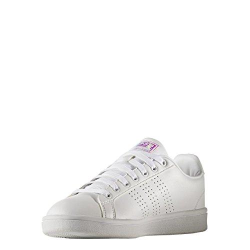 adidas CLOUDFOAM ADVANTAGE CLEAN W - Zapatillas deportivas para Mujer, Blanco - (FTWBLA/FTWBLA/CORNEB) 44