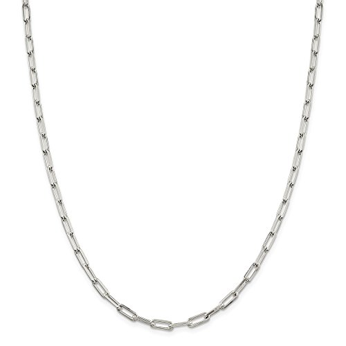 Silver Open Link Chain - Jewelry Stores Network Sterling Silver 4.25 mm Elongated Open Link Chain Necklace - 30 Inch